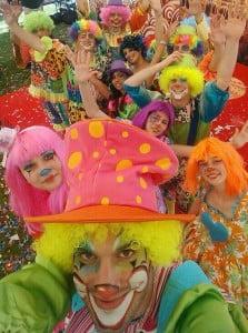 selfie cu clowni